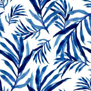 "8"" Blue Palm Fronds"