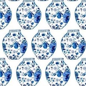 """4"""" Blue Vases"""