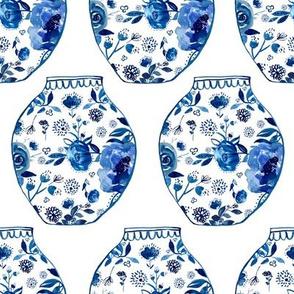 """8"""" Blue Vases"""