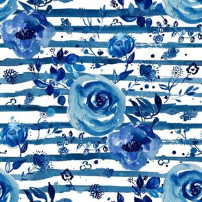 "8"" Chinoiserie Florals with Shibori Stripes"