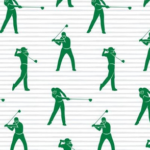 golfers - green on stripes - LAD19