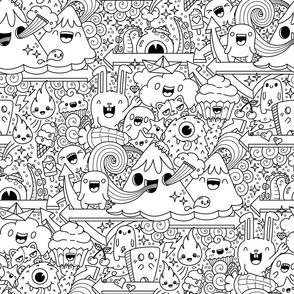 crazy monster fun coloring