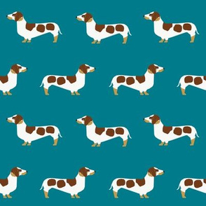 Dachshund fabric - dog with liver spots, cute dog fabric, dachshund fabric, doxie  fabric