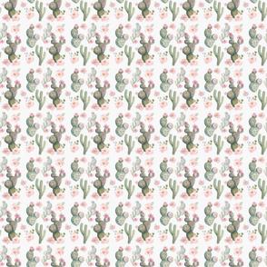 pretty floral cactus fabric