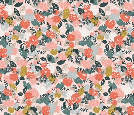 Warm Floral fabric by acdesign on Spoonflower - custom fabric