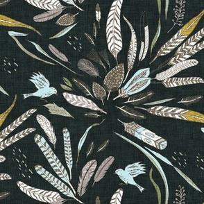 Noir Feathers (black) MED