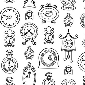 Retro Clocks in Black & White