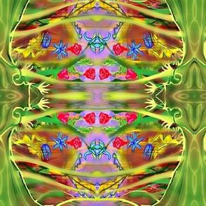 Garden Party grn/purp/bluebug