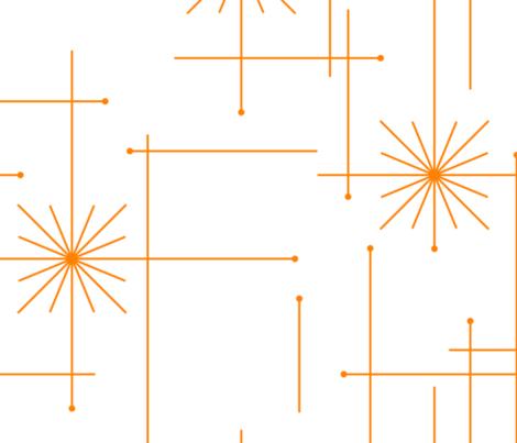 Orbs Starburst - (Custom) White/Orange fabric by tonyanewton on Spoonflower - custom fabric
