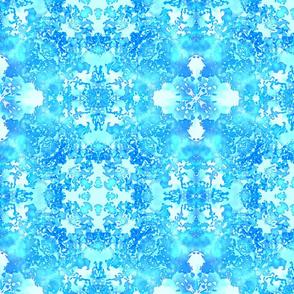 Cool Aqua, Blue and White Tile Geometric Tile