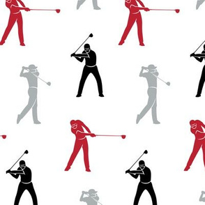 golfers - red, grey, black - LAD19