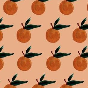 clementine on blush