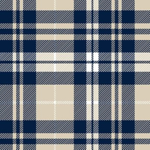 navy and beige fall plaid - LAD19