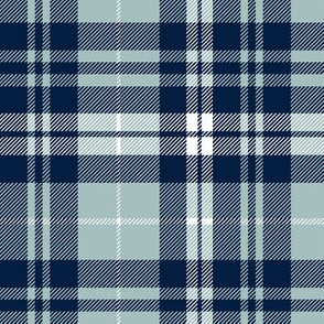 navy and dusty blue fall plaid - LAD19