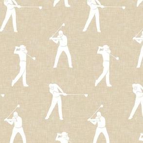 golfers on beige - LAD19