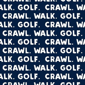 crawl walk golf - navy - LAD19
