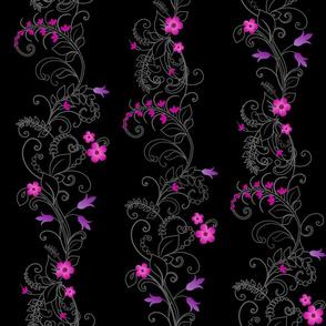 Moody Neon Flowers
