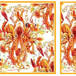 Tangerine pattern for satin scarf