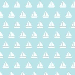 "(3/4"" scale) sailboats - nautical - blue  LAD19BS"