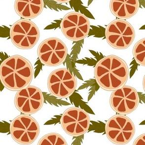 clementine slices on milk