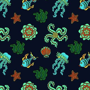 Sea creatures alternate colors