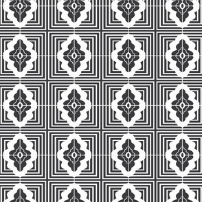 Lino Tile No 1 | B&W