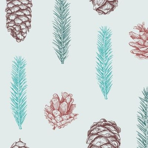 Seamless pattern with cones