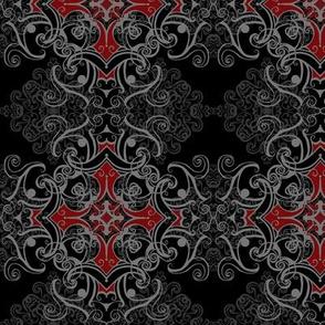 StacyCK Studio - Gothic Grey Damask V1