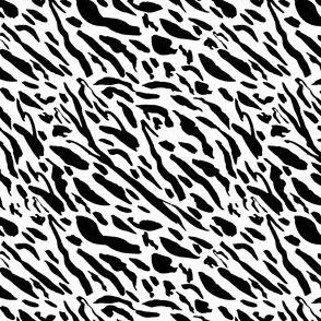 "4"" Black Tiger Stripes"