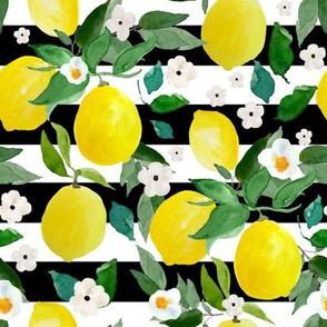 """8"""" Lemons Black and White Stripes"""