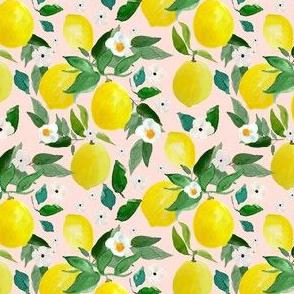 "4"" Lemons Pink Back"