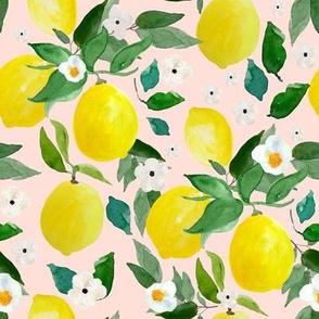 "8"" Lemons Pink Back"
