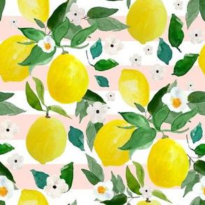 "8"" Lemons Pink Stripes"