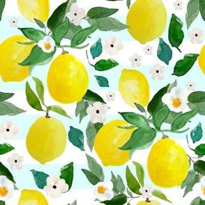 """8"""" Lemons Light Blue Stripes"""