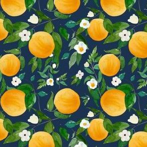"""4"""" Oranges Dark Blue"""