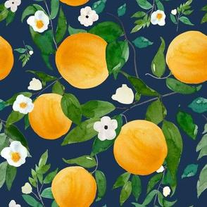 """8"""" Oranges Dark Blue"""