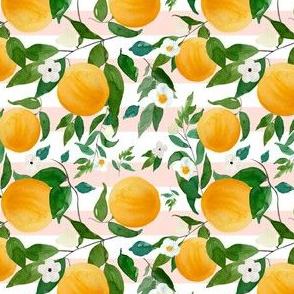 "4"" Oranges Pink Stripes"