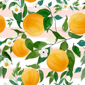 "8"" Oranges Pink Stripes"
