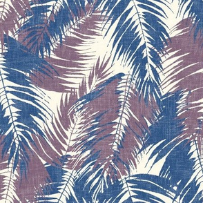 tropical palm on cream