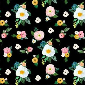 "4"" Spring Blooms Black"