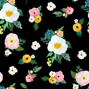 "8"" Spring Blooms Black"