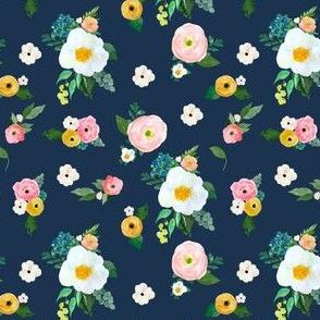 "4"" Spring Blooms Dark Blue"