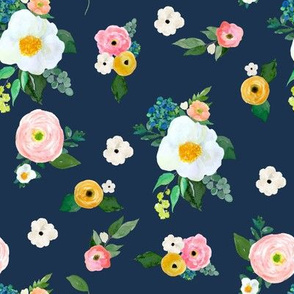 "8"" Spring Blooms Dark Blue"