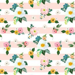 "4"" Spring Blooms Pink Stripes"