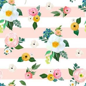 "8"" Spring Blooms Pink Stripes"