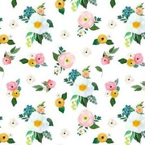 """4"""" Spring Blooms White"""