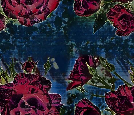 dark floral striped rose 2 fabric by mypetalpress on Spoonflower - custom fabric