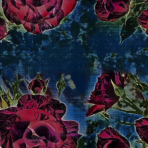 dark floral striped rose 2