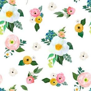 """8"""" Spring Blooms White"""