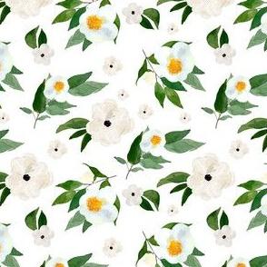 """4"""" White Flowers White"""